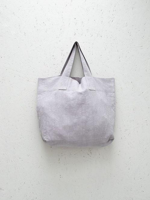 Shopper | Natural Fibre | Silver