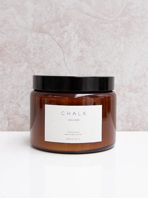 Amber Jar Candle | Lime & Herb | 500ml