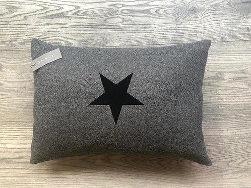 Oblong Cushion | Felt | Charcoal | Star
