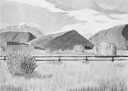 """""""A Place Called Home: Haystacks in Jackson Wyoming"""""""