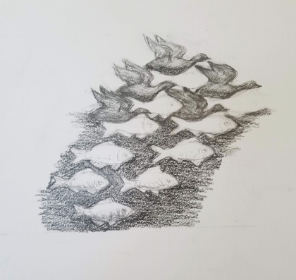 A master copy of Escher's Sky and Water