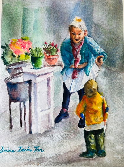 """""""""""Laughing with the Flower Lady"""""""