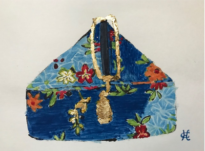 """Purse with Gold Lily Pond"""