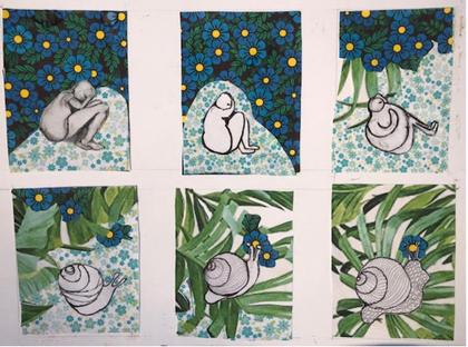 Tired Slug to Slow Snail (6 story blocks)