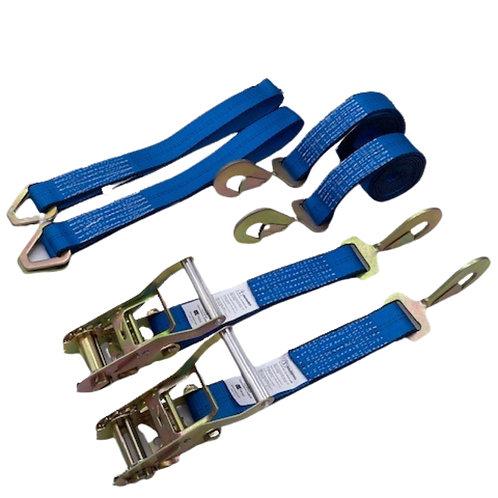 BLUE Straps w/ Snap Hook Ends w/ Blue Axle Straps