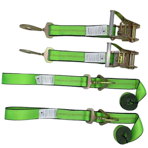 GREEN Twisted Snap Hook Strap Set