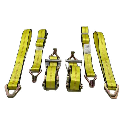 YELLOW Straps w/ Double J Ends w/ Yellow Axle Straps