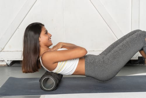 Women enjoying the benefits of foam rolling