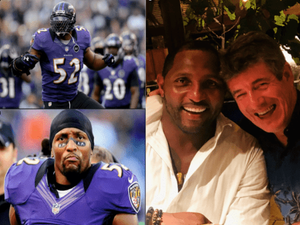 Dr Tim with Ray Lewis