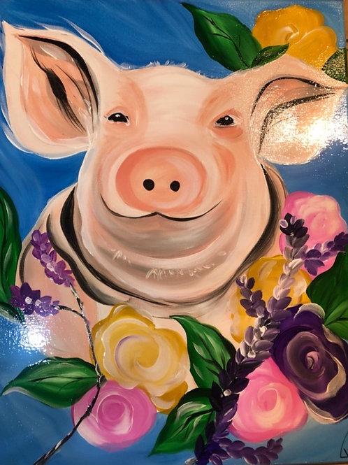"Thursday, April 29th @7pm ""Beautiful Spring Piggy"""