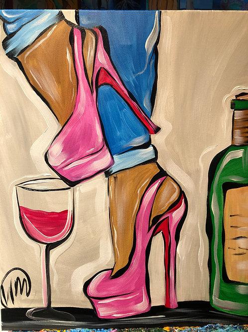 "Sat, Jan 16th @7pm ""Sexy Heels & Wine"" Trap.Paint&Groove"