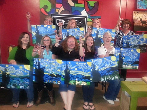 "BOOK ""TRAVEL TO YOU"" PRIVATE PARTY (MIN OF 20 PAINTERS)"