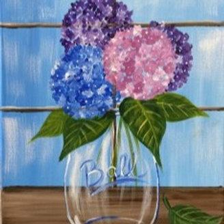 Saturday, June 19th @2pm Hydrangea in Mason Jar