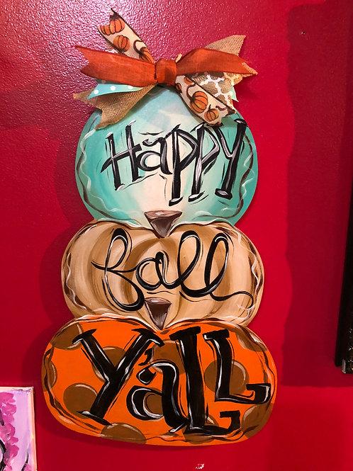 """Weds, Sept 30th @7pm """"Pumpkin Doorhanger"""""""""""