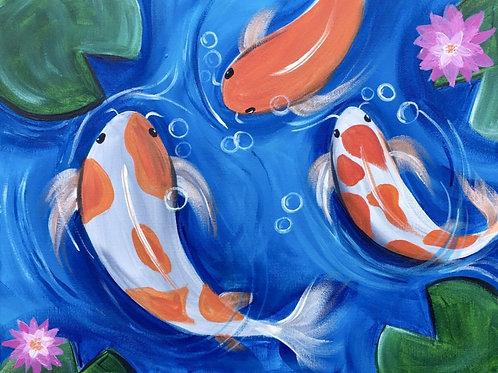 "Saturday, Jan 16th @2pm""Koi Fish"""