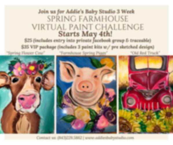 Spring Farmhouse Virtual paint challenge