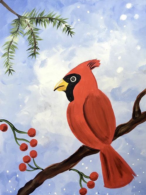 "Saturday, Jan 30th @2pm""Winter Cardinal"""