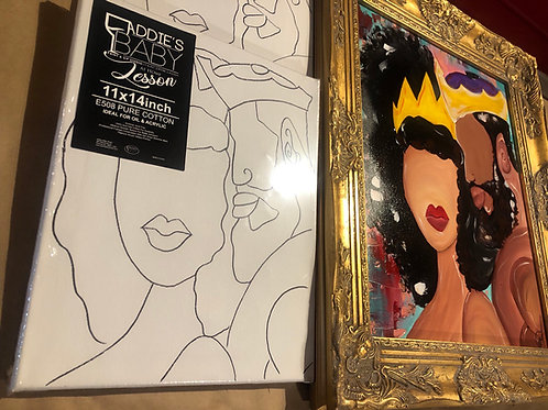 """KING & QUEEN"" DATE NIGHT CANVAS PACKS (2 CANVASES INCLUDED IN PRICE)"