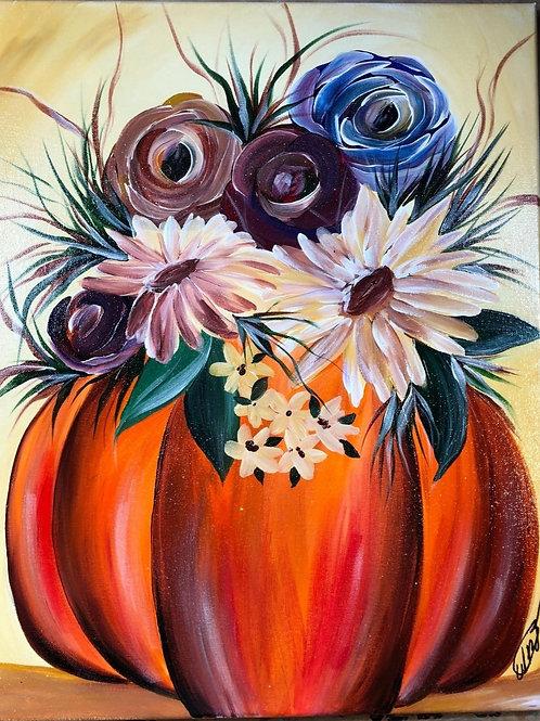 "Weds, Sept 23th @7pm ""Floral Pumpkin"""