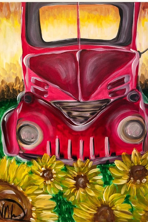 "Thursday, Oct 22nd @7pm ""Fall Red Truck"""""