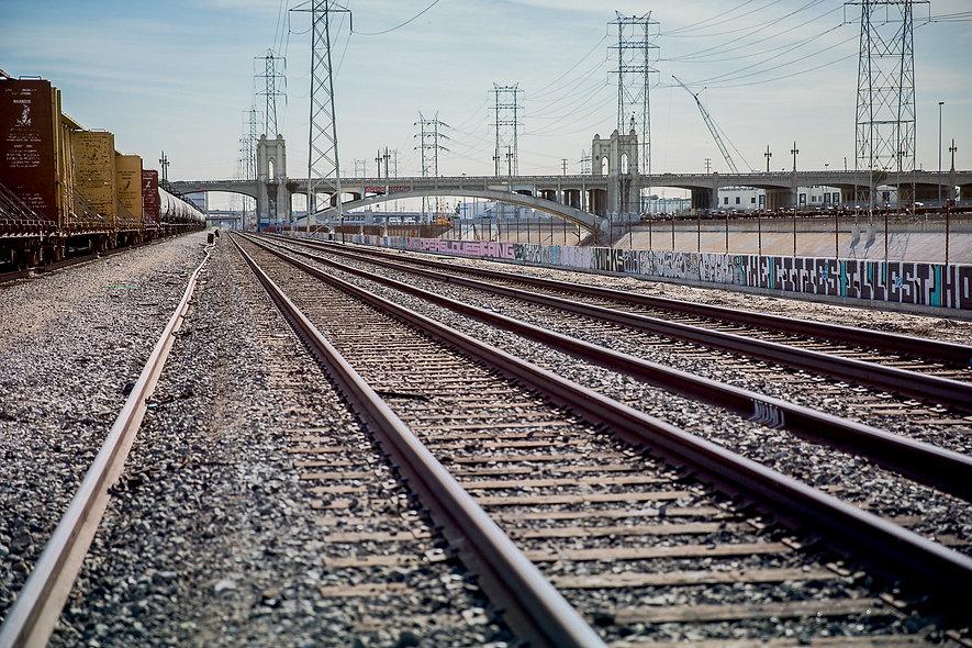 Train tracks in LA