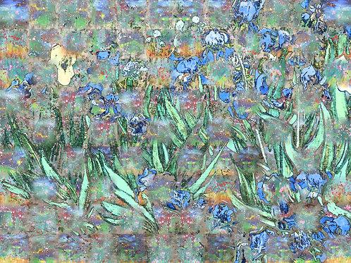 van Gogh Irises—Woven 12 by Wendy Grace Allen