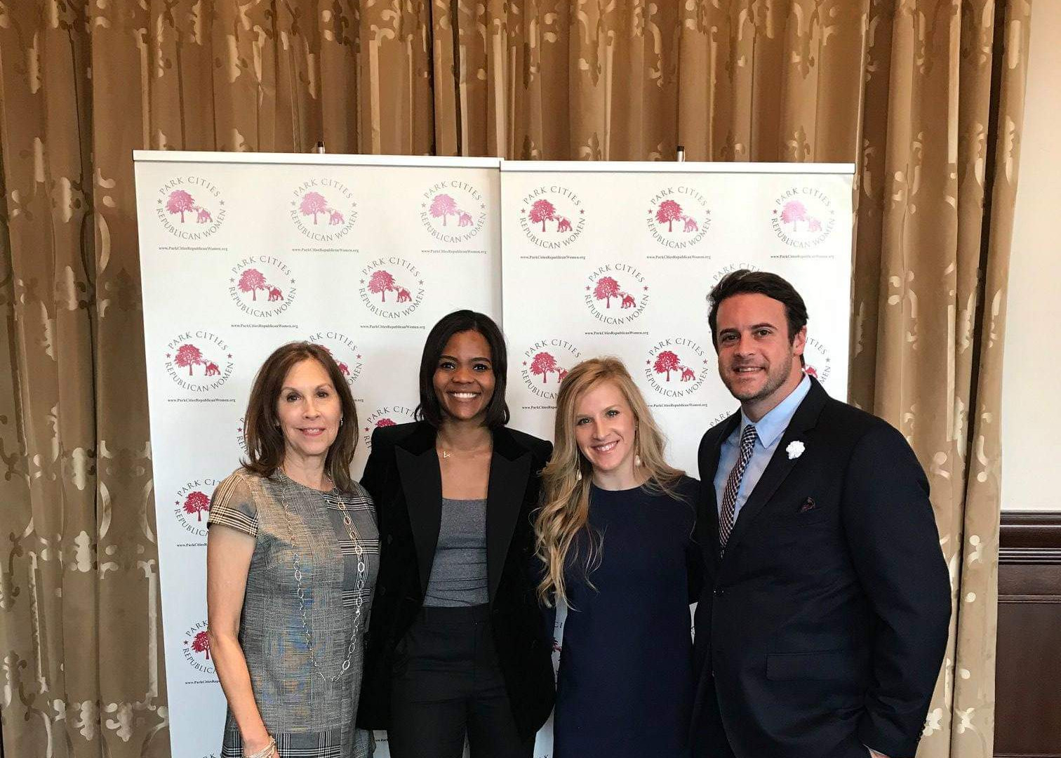 Ruth Secker Chambers with Candace Owens.