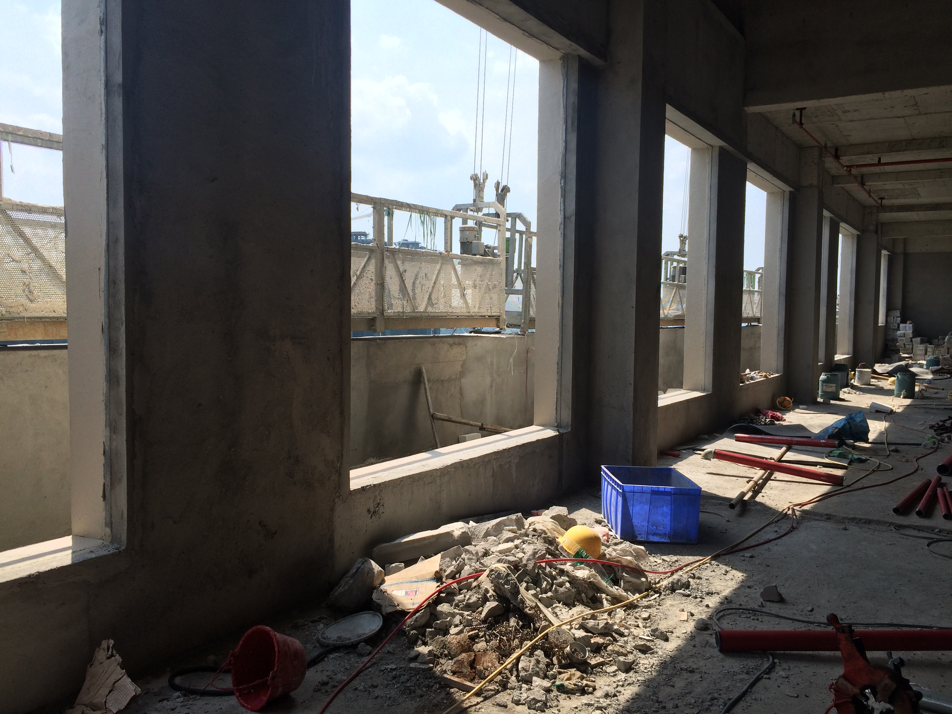 Lounge under construction
