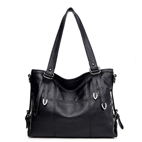 Luxury Leather Designer Stitching Casual Handbag Shouler Bag