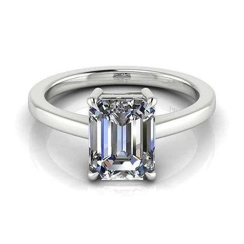 14K White Gold Princess Cut 2ct Engagement Ring Size 6