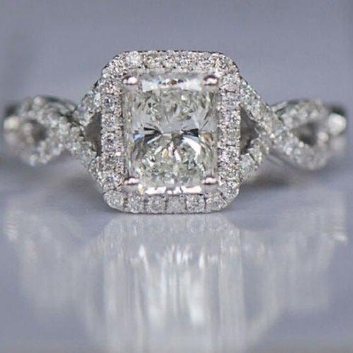 White Diamonique 006 B Wedding Ring Size 7