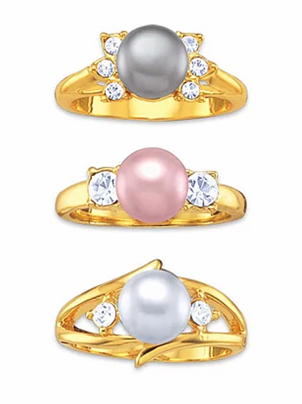 Genuine Pearl Rings