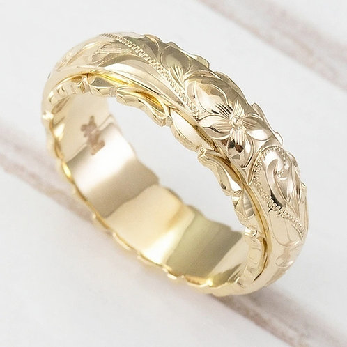 Classic ElegantExquisite 14K Rose Flower Engraved Rings