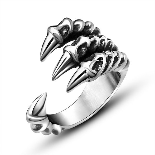 Vintage Dragon Claw Design Open Ring