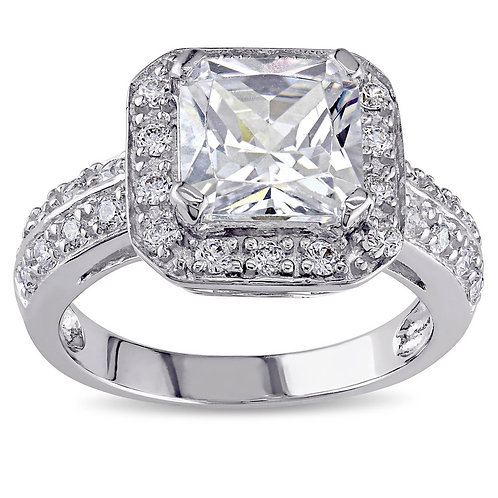 Sofia 5 3/5 CT Cubic Zirconia Silver Ring Size 5.5