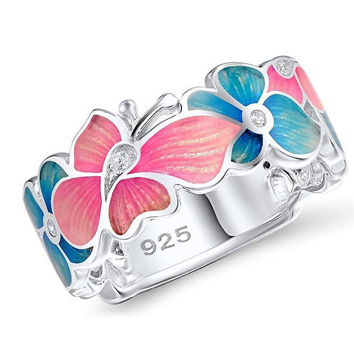 Fashion Flower Butterfly Design Ring