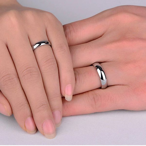 6mm Spherical Stainless Steel Engravable Magic Ring