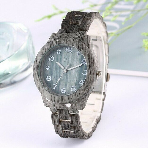 High-End Fashion Natural Wood Grain Men's Simple Digital Bamboo Quartz Watch