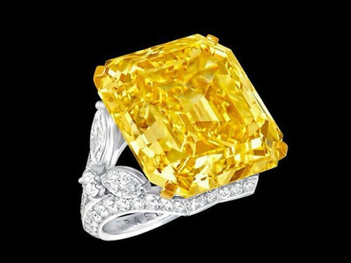 10ct Yellow Topaz Sapphire 925 Sterling Silver Ring