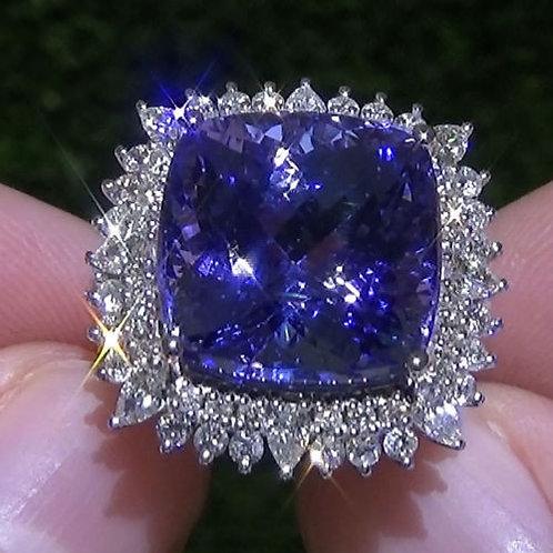 Gorgeous Women 925 Solid Sterling Silver Natural Tanzanite Gemstone Birthstone R
