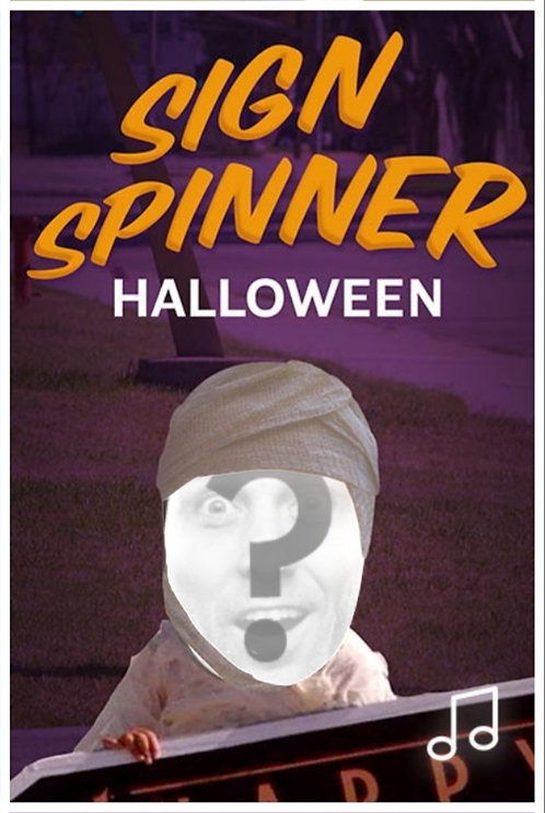 Halloween Sign Spinner