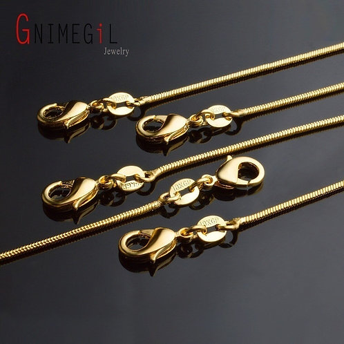 18 Inch Gold Snake Chain Necklace