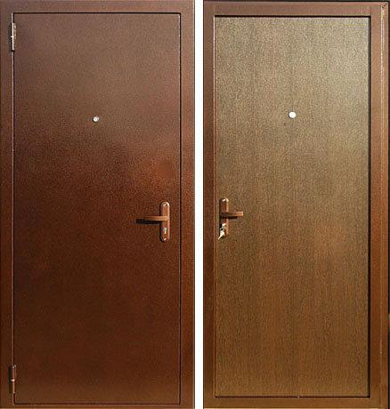 """Дверь металлическая """"Порошковое напыление - Накладка МДФ"""""""