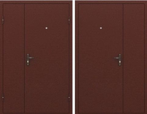"""Дверь металлическая, двухстворчатая """"Металл с двух сторон"""""""