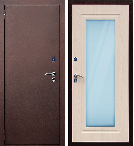 """Дверь металлическая """"Порошок-Зеркало"""""""