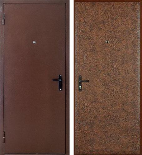 """Дверь металлическая """"Порошковое напыление - Винилискожа"""""""