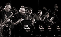 The Jazz Consortium Big Band sax section