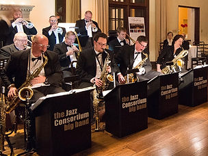 The Jazz Consortium Big Band in formal wear
