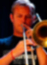 Jazz Consortium Big Band's trombonist