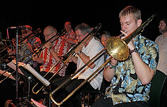 Jazz Consortium Big Band 4-man trombone section